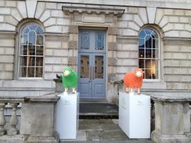 Baa Baa...orange & green sheep?