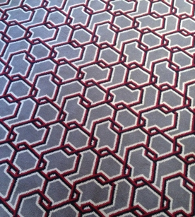 Beautiful chain mail inspired carpet