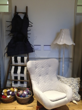 I wish I'd taken my hook and wool, that chair looks perfect