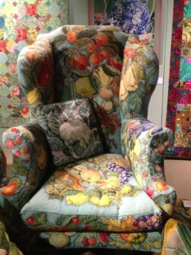 A fruity chair with a veggie cushion? Yes please!