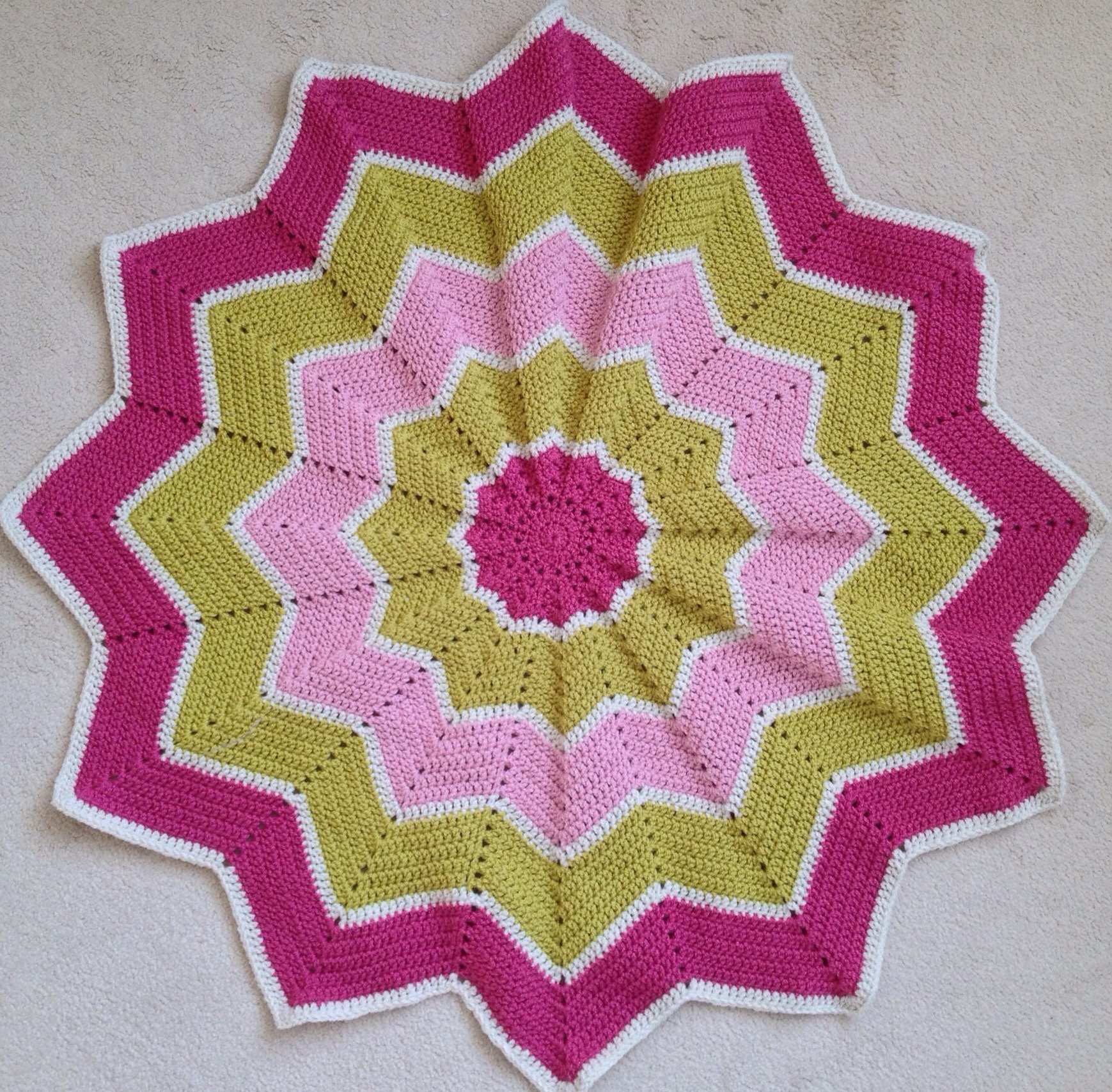 12 Pointed Star Ripple Blanket The Little Room Of Rachell