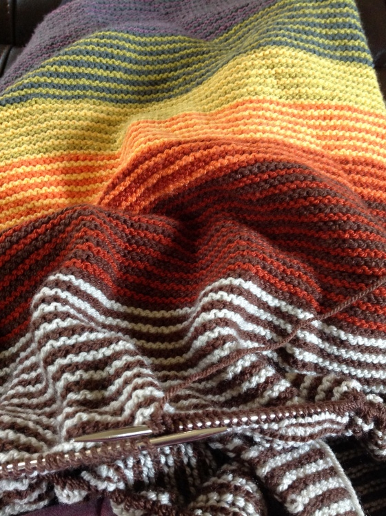 fb9e1e67514 I ve dug my Stripy blanket out and actually it s nice to be adding to it  again. Isn t it bright though ! I kind of forgot how much it s a bit in  your face.